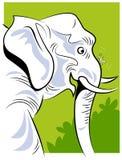 Uma formiga e um elefante ilustração do vetor