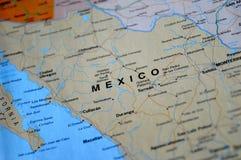 Uma foto de México em um mapa foto de stock