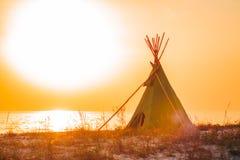 Uma foto de uma tenda fotografia de stock