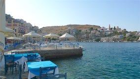 Uma foto do azul encheu a ilha de Kos Grécia Imagem de Stock
