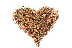 Uma foto do close up do coração da pimenta Foto de Stock