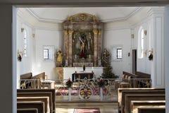 Uma foto interna de uma igreja Fotografia de Stock