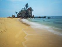 Uma foto lenta do obturador de um seascape Imagens de Stock Royalty Free