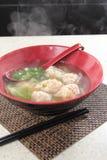 Uma foto saboroso da culinária da bolinha de massa Imagens de Stock Royalty Free