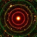 Uma fotografia abstrata de círculos coloridos brilhantes fotos de stock royalty free