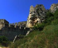 Uma fotografia de um castelo de pedra Foto de Stock