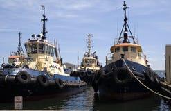 Uma frota dos barcos fotografia de stock royalty free