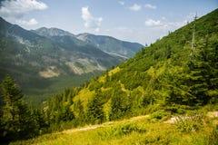 Uma fuga de caminhada bonita nas montanhas Paisagem da montanha em Tatry, Eslováquia foto de stock royalty free