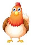 Uma galinha gorda grande ilustração stock
