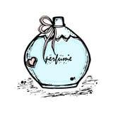 Uma garrafa do perfume para meninas, mulheres Forma e beleza, tendência, aroma Fotografia de Stock