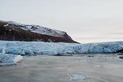 Uma geleira em Islândia Fotografia de Stock