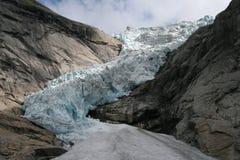 Uma geleira em Noruega Foto de Stock Royalty Free