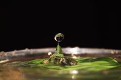 Uma gota da água Imagens de Stock