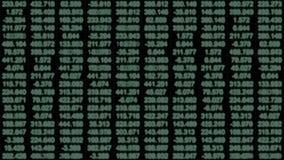Uma grade monocromática dos dados de fluir números video estoque