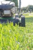 Uma grama do verão do corte do cortador de grama Fotos de Stock