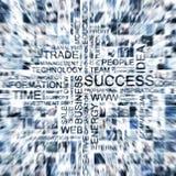 Uma grande colagem de imagens diferentes do tema do negócio imagem de stock royalty free