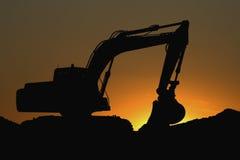 Uma grande máquina escavadora Fotos de Stock Royalty Free