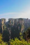 Uma grande opinião da paisagem Tien mansan em Zhangjiajie Imagens de Stock