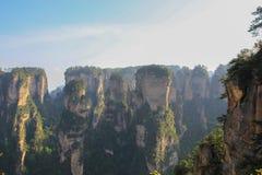 Uma grande opinião da paisagem Tien mansan no meio-dia Foto de Stock