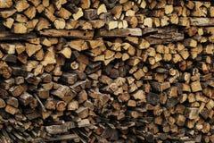 Uma grande pilha de madeira Fotos de Stock