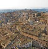 Uma grande vista de Siena foto de stock royalty free