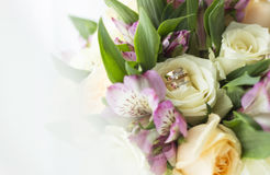 Uma grinalda das flores Foto de Stock Royalty Free
