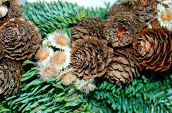 Uma grinalda feito a mão do Natal Imagem de Stock Royalty Free