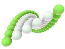 Uma hélice deu forma por seis correntes das esferas Ilustração Stock