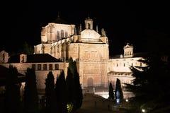 Uma ideia da noite de uma seção da igreja de St Stephen em Plaza del Concilio de Trento, Salamanca Imagem de Stock