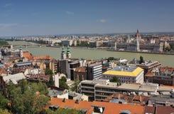 Uma ideia da peça da praga e do Buda de Budapest Imagens de Stock Royalty Free