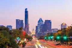 Uma ideia da skyline Austin Fotos de Stock Royalty Free
