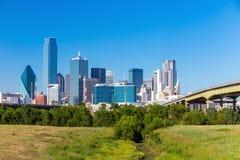 Uma ideia da skyline de Dallas, Texas Foto de Stock Royalty Free