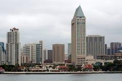 Uma ideia da skyline de San Diego Fotos de Stock