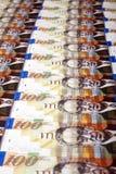 Cem fundos das contas dos shekels Foto de Stock Royalty Free