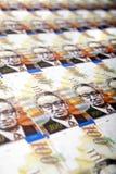 Cem fundos das contas dos shekels Imagem de Stock Royalty Free