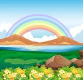 Uma ideia do arco-íris e da natureza bonita ilustração royalty free