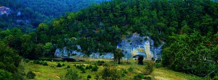 Uma ideia do blefe do crânio no rio do nacional do búfalo Fotos de Stock Royalty Free