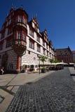 Uma ideia do mercado histórico em Coburg, Alemanha Fotografia de Stock Royalty Free