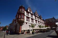 Uma ideia do mercado histórico em Coburg, Alemanha Imagens de Stock Royalty Free