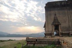Uma igreja budista velha foto de stock
