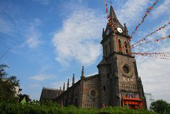 Uma igreja Católica em China Imagem de Stock Royalty Free
