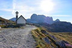 Uma igreja da montanha Imagem de Stock