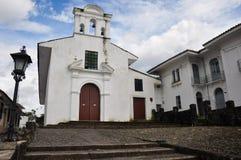 Uma igreja em Popayan, Colômbia fotografia de stock