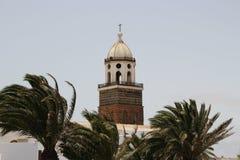 Uma igreja em Teguise Imagens de Stock Royalty Free