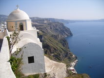 Uma igreja no mar Foto de Stock Royalty Free