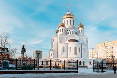 Uma igreja nova na região de Moscou Imagem de Stock Royalty Free