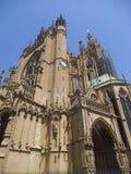 Uma igreja ornated gótico bonita em Nancy imagem de stock