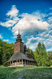 Uma igreja ortodoxa antiga ucraniana típica Fotos de Stock