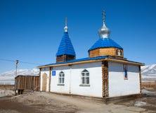 Uma igreja ortodoxa pequena Imagens de Stock