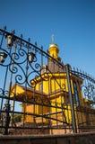 Uma igreja pequena da vila fotografia de stock